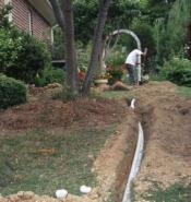 laying new delivery lines is one of the sprinkler repairs in Dallas that we do