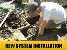 we are experts at new system installation and follow all Texas building codes
