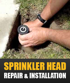sprinkler head repair and installation in Dallas TX